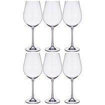Набор бокалов для вина из 6 шт. COLUMBA 650 МЛ ВЫСОТА=26 СМ (КОР=1Набор.) - Crystalite Bohemia
