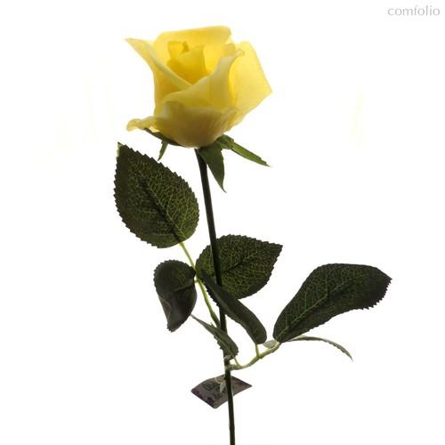 Роза Алба желтая 45 см живое прикосновение (24 шт.в упак.) - Top Art Studio