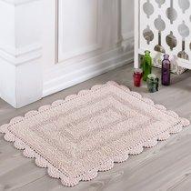 Коврик для ванной Evora, кружевной, цвет пудра, 50x70 - Bilge Tekstil