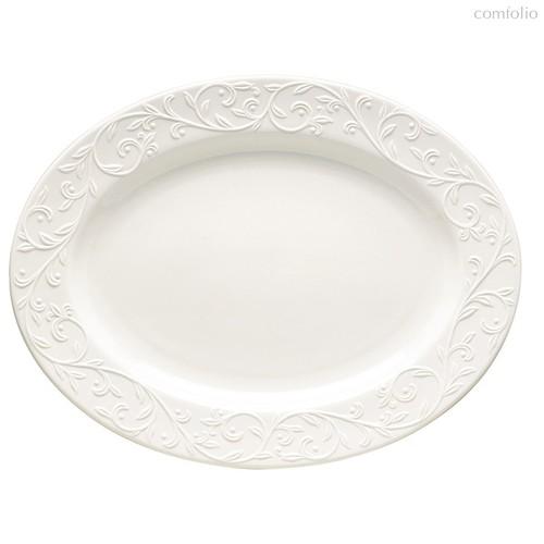 """Блюдо овальное Lenox """"Чистый опал, рельеф"""" 35,5см, 35 см - Lenox"""