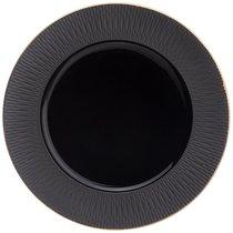 Тарелка Закусочная Bronco Crocus 22 см Черная - Porcelain Manufacturing Factory