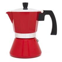 Гейзерная кофеварка Leopold Vienna Tivoli 6 чашек, 310мл, индукция, сталь, красная - Leopold Vienna