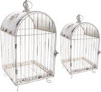 Набор Клеток Для Птиц Декоративных Из 2 Шт.L:28x28x62,M:23x23x45 см - Baihui Rattan Furniture