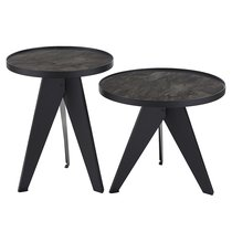 Набор кофейных столиков Carrero черный, 2 шт. - Berg