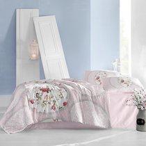 Постельное белье Ranforce Perlita, цвет розовый, размер Евро - Altinbasak Tekstil