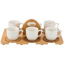 Кофейный Набор На 6 Персон Native 12Пр. 150 мл На Подставке - Yinhe Ceramics