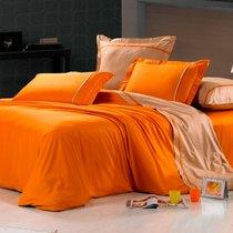 Велла - комплект постельного белья, цвет оранжевый, 1.5-спальный - Valtery