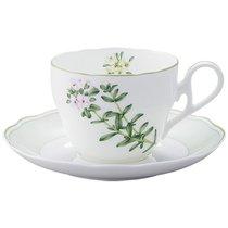"""Чашка чайная с блюдцем 250мл """"Английские травы"""""""