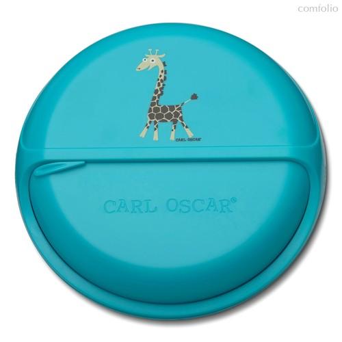 Ланч-бокс для перекусов SnackDISC™ Giraffe бирюзовый, цвет бирюзовый - Carl Oscar