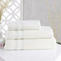Полотенце махровое Karna Petek, цвет кремовый, размер 50x100 - Karna (Bilge Tekstil)