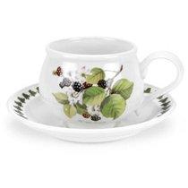 "Чашка для завтрака с блюдцем Portmeirion ""Помона.Ежевика"" 270мл - Portmeirion"