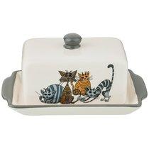 Масленка Коллекция Озорные Коты 18x11x10. 5 см - Hongda Ceramics