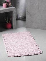 """Коврик для ванной """"MODALIN"""" кружевной DARIN 55x85 см 1/1, цвет абрикосовый, 55x85 - Bilge Tekstil"""