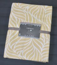 Бежевый Орнамент 5772ВЖК Премиум 212х150 100 % х/б Байковое жаккард Ермолино одеяло, цвет бежевый - Ермолино