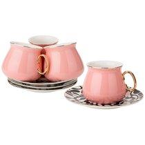 Чайный Набор На 4Пер. 8 пр. 220 мл , Розовый, цвет розовый - Rongshengyuan