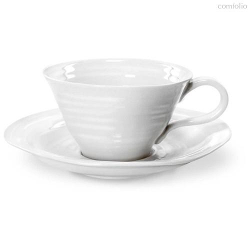 """Чашка чайная с блюдцем Portmeirion """"Софи Конран для Портмерион"""" 300мл (белая), цвет белый - Portmeirion"""