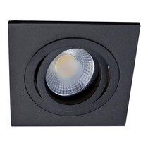 Donolux светильник встраиваемый, поворотный квадрат, MR16,D92х92 H60, max 50w GU5,3, чёрный - Donolux