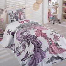 Покрывало DANTELA VITA Жаккард 180*240 (50*70/1 шт.) TRAVEL, цвет лиловый, 180x240 - Dantela Vita
