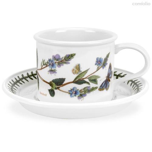 """Чашка для завтрака с блюдцем Portmeirion """"Ботанический сад. Вероника"""" 260мл - Portmeirion"""