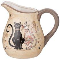 Кувшин Парижские Коты 18x13 см Высота 16,5 см / 1150 мл - Huachen Ceramics