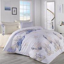 Постельное белье Ranforce Deniz Yildiz, подростковое, цвет бежевый, 1.5-спальный - Altinbasak Tekstil