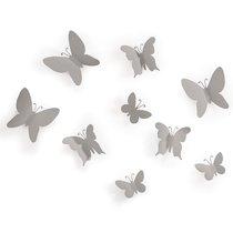 Декор для стен Mariposa 9 серый - Umbra