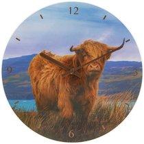 Часы настенные Lesser & Pavey Шотландский бык d30см - Lesser & Pavey