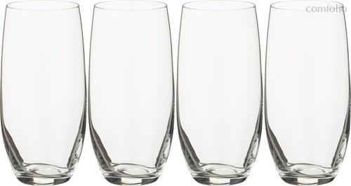 Набор стаканов ДЛЯ ВОДЫ из 4 шт. БАР 470 млВЫСОТА=16 СМ.(КОР=12Набор.) - Crystalex