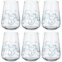 Набор стаканов из 6 шт. SANDRA 380 мл ВЫСОТА=12 СМ. (КОР=1Набор.) - Crystalex