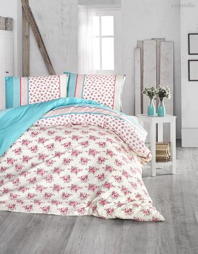 Постельное белье Ranforce Ahsen, цвет бирюзовый, размер 1.5-спальный - Altinbasak Tekstil