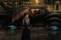 Дождливый вечер 60х90 см, 60x90 см - Dom Korleone
