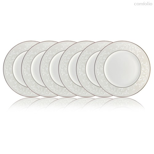 Набор тарелок акцентных Lenox Чистый опал 23см, фарфор, 6шт - Lenox