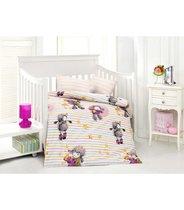 """Постельное белье """"Altinbasak"""" для новорожденных KUZUCUK, цвет розовый - Altinbasak Tekstil"""