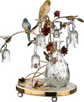 Набор Для Ликера На Подставке 7 Пр.Попугаи: Графин+6 Рюмок 900/60 мл высота 47 см (Кор 1 шт. ) - Ceramiche Stella