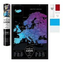 Карта Travel Map Black Europe - 1DEA.me