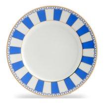 """Тарелка десертная 21см """"Карнавал"""" (синяя полоска), цвет синий - Noritake"""