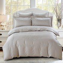 Постельное белье Karna Revena 300.TC, сатин с вышивкой, цвет серый, Евро - Karna (Bilge Tekstil)