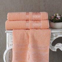 Полотенце махровое Karna Rebeka, цвет абрикосовый, 50x90 - Bilge Tekstil