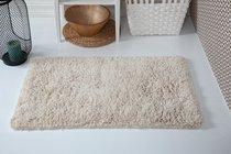 """Коврик для ванной """"MODALIN"""" с бахромой BOLIV 50x80 см 1/1, цвет бежевый, 50x80 - Bilge Tekstil"""