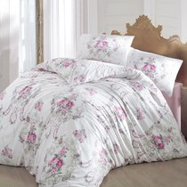 Постельное белье Ranforce Admire, цвет розовый, размер Евро - Altinbasak Tekstil