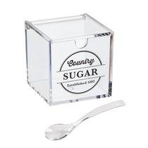 Сахарница с ложкой Weston 200гр акриловая, цвет прозрачный - D'casa