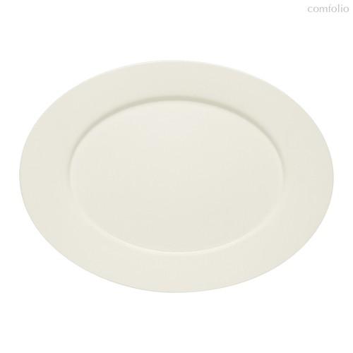 Тарелка овальная плоская 33х24 см, с бортом, Purity, 33 см - Bauscher