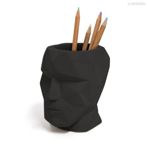 Подставка для канцелярских принадлежностей The Head черный, цвет черный - Balvi