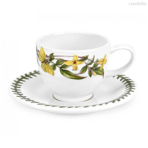 "Чашка для эспрессо с блюдцем Portmeirion ""Ботанический сад. Желтый жасмин"" 100мл - Portmeirion"