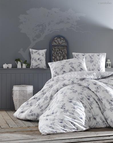 Постельное белье Ranforce Clair, цвет голубой, размер 1.5-спальный - Altinbasak Tekstil