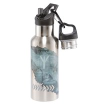 Термос-фляга Wisdom TEMPflask™ Strength 0.5л, цвет серый - Carl Oscar