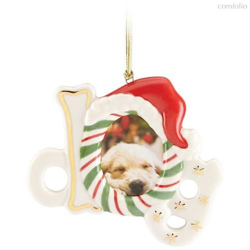 """Украшение новогоднее Lenox """"Фоторамка,пёс"""" 8см (магнит) - Lenox"""