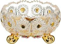 Конфетница Lefard Gold Glass Диаметр 11 см Высота 7 см - Dalian