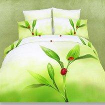Комплект постельного белья RS-43, цвет зеленый, размер Евро - Famille