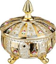 Конфетница С Крышкой Lefard Gold Glass Диаметр 17 см Высота 21 см - Dalian